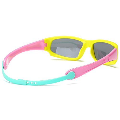 9b3dc77ca7 SojoS Kids Sports Polarized Sunglasses Rubber Flexible Frame for Boys And  Girls