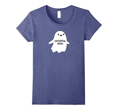 Womens Halloween Existential Dread Ghost Shirt XL Heather (Halloween Dreads)