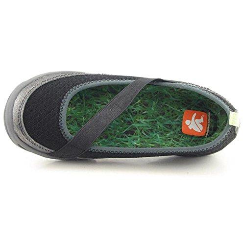 Cushe Kvinners Bambus Semsket Uformell Slip-on Flat Walking Sko Svart / Eple