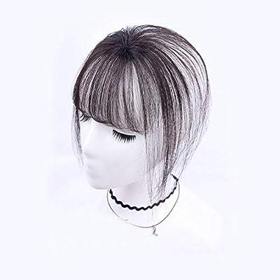 Stamped Glorious Real Human Hair Clip on Bangs Topper 3D Hand Made Air Bang