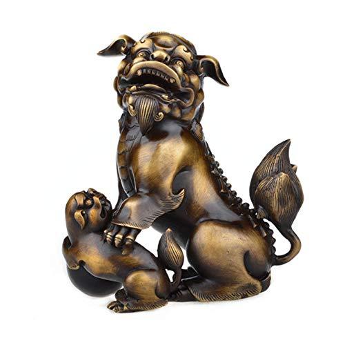 ラオジュン炉 純銅のライオンの装飾品ブティック母と子のライオン   B07MRJL7HK