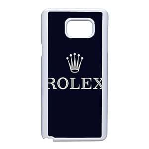 Samsung Galaxy Note 5 Cell Phone Case White Rolex Logo AC8625035