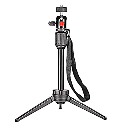 """Neewer® Pro (Pro Version of Neewer Product) 14.2 inch/36 cm Aluminium Alloy KT-200 Table Top Tripod for GoPro 1,2,3,3+,4, Smartphone, Interchangeable Lens Digital Camera, and Most DSLR Cameras with 1/4"""" Thread, 6lbs/2.7kg Load Capacity by Neewer"""