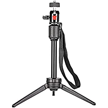 "Neewer Pro (Pro Version of Neewer Product) 14.2 inch/36 cm Aluminium Alloy KT-200 Table Top Tripod for GoPro 1,2,3,3+,4, Smartphone, Interchangeable Lens Digital Camera, and Most DSLR Cameras with 1/4"" Thread, 6lbs/2.7kg Load Capacity"