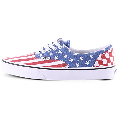 Vans Unisex Era Sneakers Red Blue