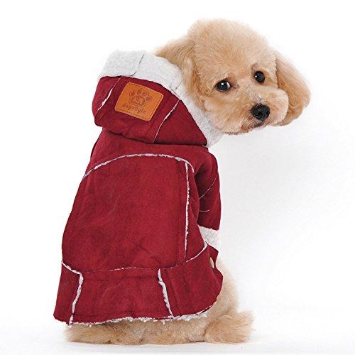 Gosear Perro de Invierno Ropa bereber con Capucha Mascotas Ropa Chaqueta Abrigo Ropa Accesorios Vino XL