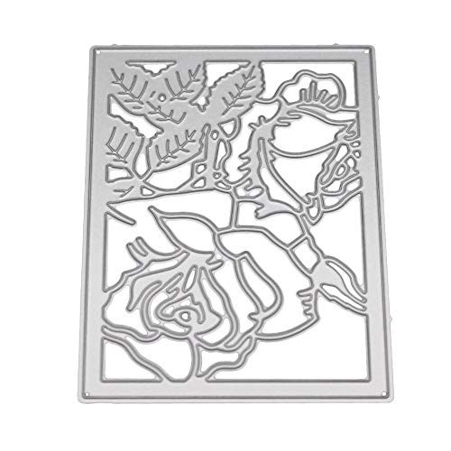 Orcbee  _Metal Die Cutting Dies Stencil for DIY Scrapbooking Album Paper Card Decor Craft (D)