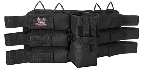 Black Deluxe Paintball - Maddog Sports 6+1 Deluxe Padded Paintball Harness - Black