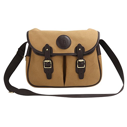 (TOURBON Leather Fly Fishing Tackle Case Crossbody Carryall Game Fishing Bag)