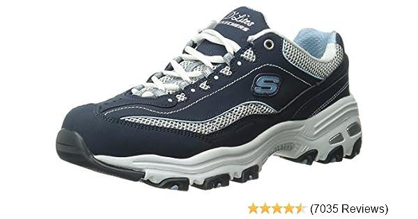 12c9c11de2e3e Amazon.com | Skechers Women's D'Lites Memory Foam Lace-up Sneaker | Fashion  Sneakers