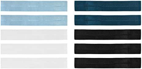 Fashion First Aid Comfortable Button Extenders: Collar & Belly Breathing Room, 4 colors, Value 10 Pack