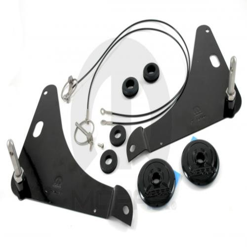 Dodge Challenger Hood Pin Kit With Black (Dodge Challenger Hood Pin Kit)