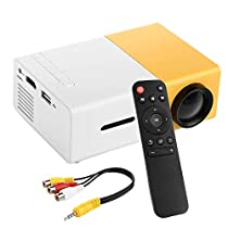 PowerLead PDK007 Home Entertainment Projector Mini Projector Portable LED Projector Home Cinema Theater with Laptop PC Support USB/SD/AV/HDMI Input Pocket Projector for Video Movie Game