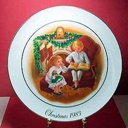 1983 Avon Christmas Memories Series 22k Trim Porcelain Plate -
