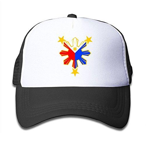 DNUPUP Kid's Philippines Pride Star Flag Sun Adjustable Casual Cool Baseball Cap Mesh Hat Trucker Caps