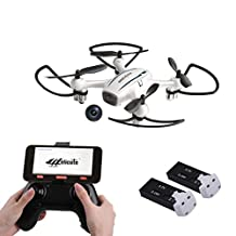Cellstar FPV RC Drone with Camera 720P HD WiFi Live Video and Altitude Hold 2.4GHz 4CH 6-Axis Gyro RC Quadcopter 2 Batteries