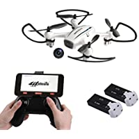 Cellstar FPV Drone with 720P HD Live Video WiFi Camera and Altitude Hold 2.4GHz 4CH 6-Axis Gyro RC Quadcopter with Extra Battery for Enthusiasts