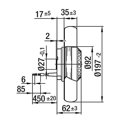 Ventilatore assiale con rotore in metallo Alimentazione 220-240 VAC 50//60Hz