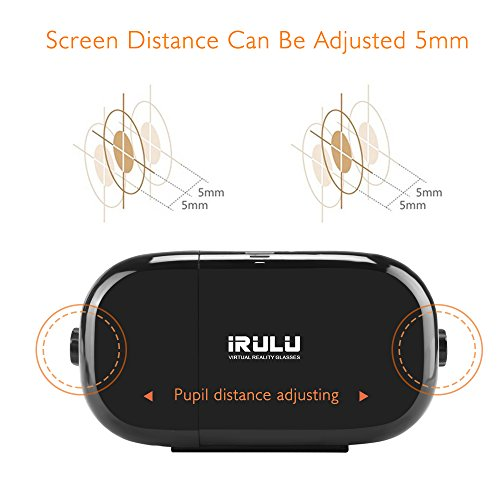 iRULU 3D Virtual Reality VR Glasses VR Headset with Controller for Movies Games Compatible with Android iOS and 4.0-6.0 inches Smartphones Black by iRULU (Image #3)