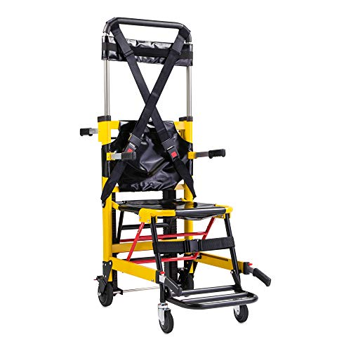 LINE2design Medical Evacuation Stair Chair 70007-Y Premium Emergency Transport Manual Track Stair Chair - Load Capacity: 400 lb. Yellow