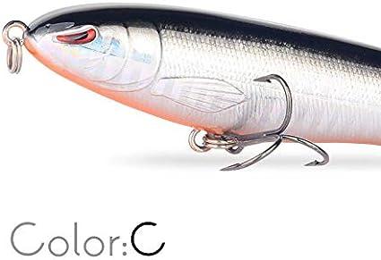 Libao-K/öder Farbe : Color A Whopper Plopper 13 cm Topwater Fischk/öder K/ünstliche K/öder Harte Wopper Plopper Weiche Rotierenden Schwanz Angelger/ät Geer