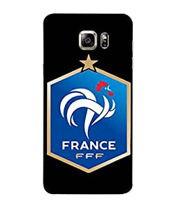 ColorKing Football France 15 Black shell case cover for Samsung S6