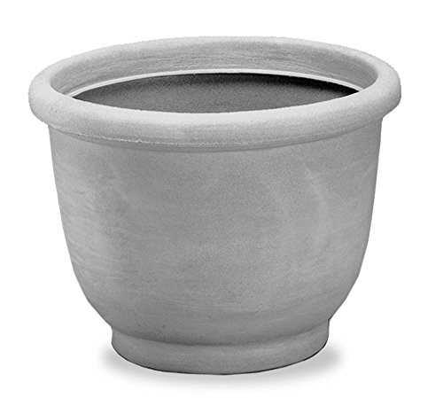 Crescent Garden Agave Planter, Weathered Stone, 14-Inch