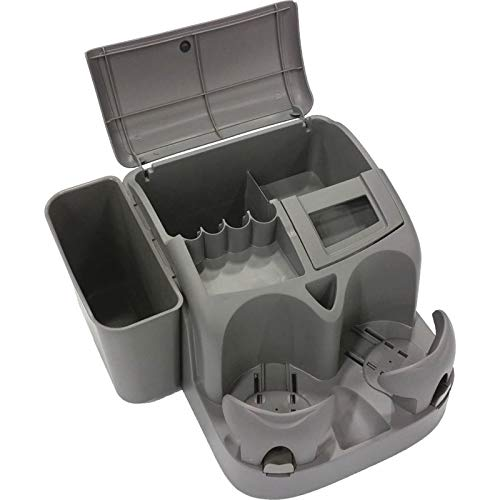 Coin Organizer Deluxe - Eckler's Premier Quality Products 40-338699 Deluxe Console/Organizer With Drink, Coin, And CD Holders, Charcoal