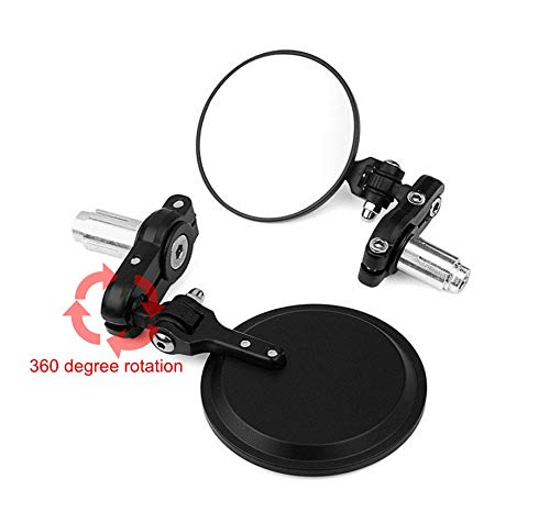 ALPHA MOTO Motorcycle 3 inch Foldable Bar End Mirrors for 7/8