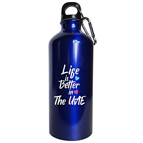 Life Is Better In The UAE Pride - Water Bottle Metallic Blue
