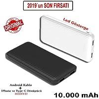 PaLeOn 10000 mAh Slim Powerbank 4 Kademe Gösterge + 2 USB +Gerçek Kapasite+Promosyon Fiyat PLO-P200 (Beyaz)