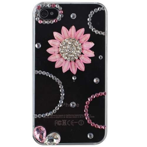 3D Diamond Jewel Dazzle Case for iPhone 4 4S (Sunflower) (Iphone 4 Diamond Sunflower Case)