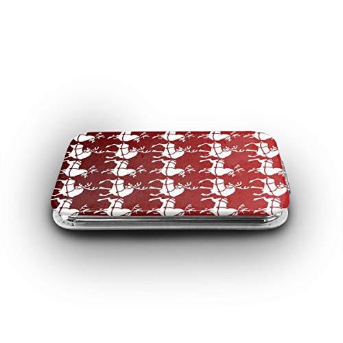 Cookfun Holiday Christmas Reindeer Makeup Mirror Mini Pocket Mirror (Rectangle)