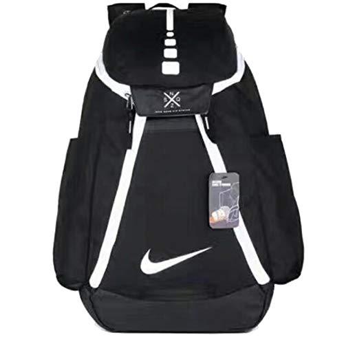 b82a0c1a65c93c DeLamode American NBA Basketball Backpacks Travel Student Shoulder Bags  BlackWhite