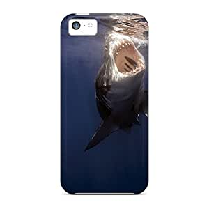 Fashion Protective Animals Big Shark Case Cover For Iphone 5c