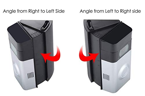 CAVN Adjustable 30 to 55 Degree Angle Mount Compatible Ring Wi Fi Enable Doorbell Ring Video Doorbell 2 Replacement Angle Adjustment Adapter Mounting Plate Bracket Wedge Corner Kit Black