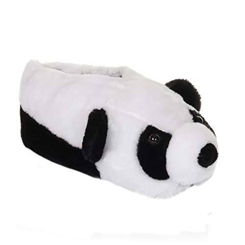 Womens/Ladies Panda Design 3D Novelty Slippers (7/8 US) (Panda)