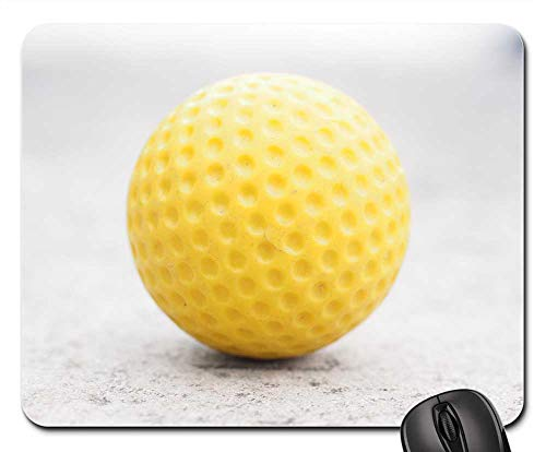 - Mouse Pad - Ball Mini Golf Ball Yellow Checkered Ball Guide