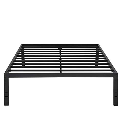 Olee Sleep VC18BX10F New Dura Metal Steel Slate Bed Frame, Full, Black