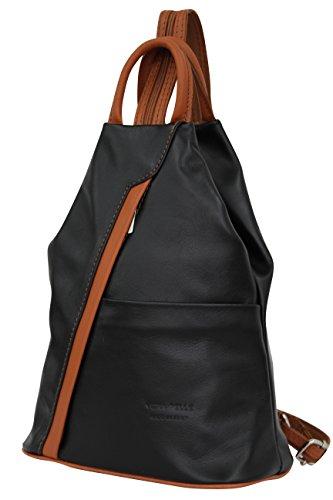 Noir 2 dos AMBRA Moda portés Sacs femme XwX7Yfq