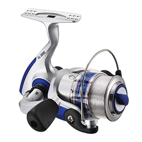 (Metal Spinning Fishing Reel 5.5;1 Large Lure Bait Cast Long Shot Rod Reels Sea Boat Raft Angling for Trout Bass Carp Fish)