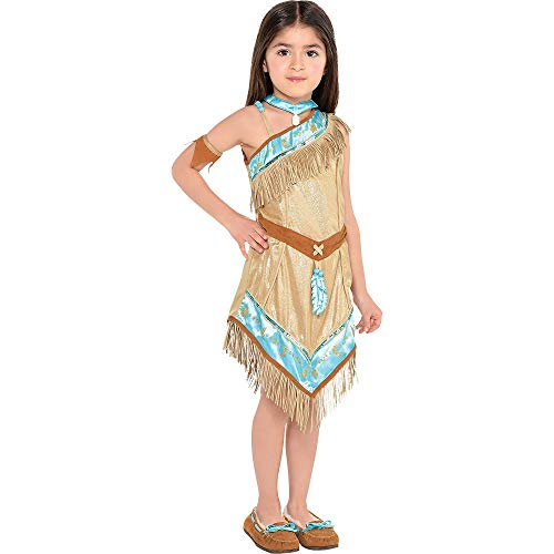 Suit Yourself Pocahontas Halloween Costume for Toddler Girls, 3-4T, Includes Accessories -