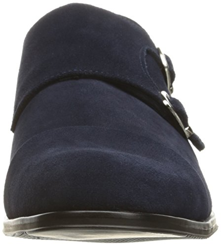 Stacy Adams Menns Slocomb-cap Toe Double Monk Strap Slip-on Dagdriver Navy Semsket