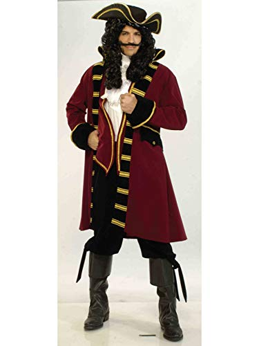 Forum Designer Deluxe Pirate Captain Costume, Multi, Extra