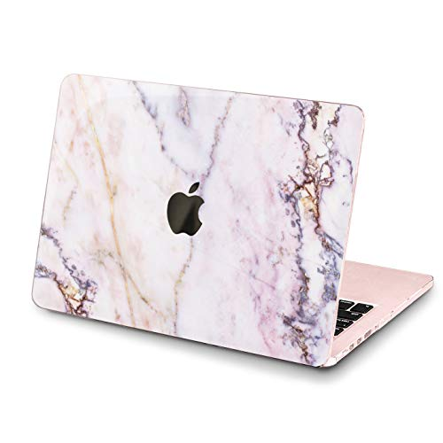 (Lex Altern MacBook Case Abstract Marble Pro 15 inch Air 13 12 11 2018 Purple Mac 1990 1708 Light Weight Retina Cover White Natural Hard Apple 2017 2016 Protective Girly Print Touch Bar Durable 2015)