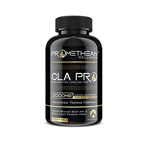 CLA PRO 2000 mg Pure Premium CLA Safflower Oil Conjugated Linoleic Acid 120 Count Softgels High Potency Optimum Dosage Best Belly Fat Burner Weight Loss Supplement for Men & Women 1250