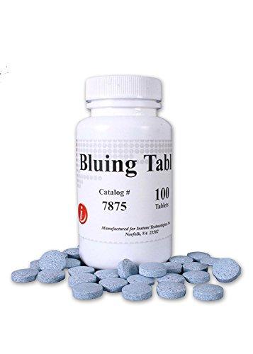 Tamper Tabs Blue DOT Approved Bluing Tablets, 100 Count