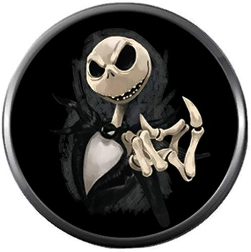 Nightmare Before Christmas Spooky Jack Skellington Come Here Finger 18MM - 20MM Charm for Snap Jewelry
