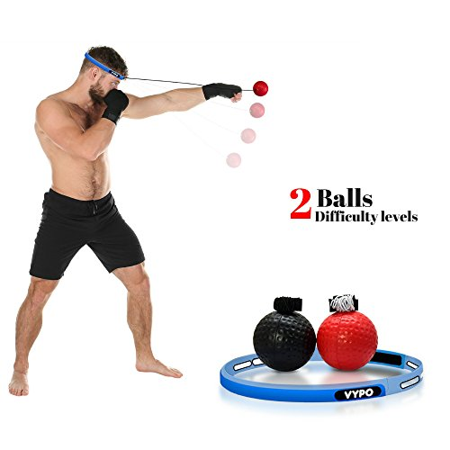 Boxing Reflex Ball, Perfect Boxing Equipment, MMA Equipment for Speed Training - Punching Ball With 2 Balls And Headband for Boxing Training Martial Arts Fitness Tennis Golf | BONUS 100% FREE E-BOOK