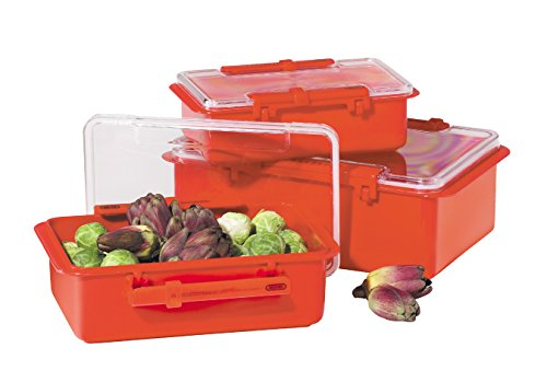 Oggi 3 Piece - Oggi Snap 'N Seal 3 Piece Container Set, Red